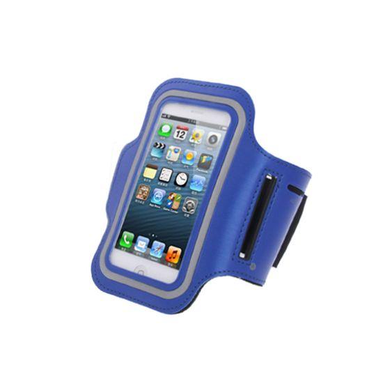 Mobigear Neopreen Sportarmband voor de iPhone SE (2016) / 5S / 5C / 5 - Blauw