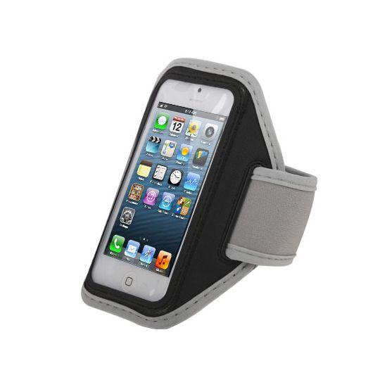 Mobigear Neopreen Sportarmband voor de iPhone SE (2016) / 5S / 5C / 5 - Zwart