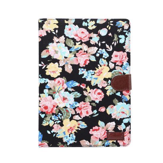 Mobigear Folio Bookcase voor de iPad Pro 9.7 (2016) - Bloemen Zwart