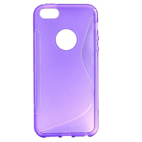 Mobigear S-Line TPU Backcover voor de iPhone SE (2016) / 5S / 5 - Paars