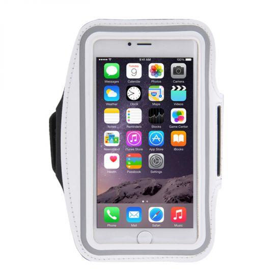 Mobigear Neopreen Sportarmband voor de iPhone 8 Plus / 7 Plus / 6(s) Plus - Wit