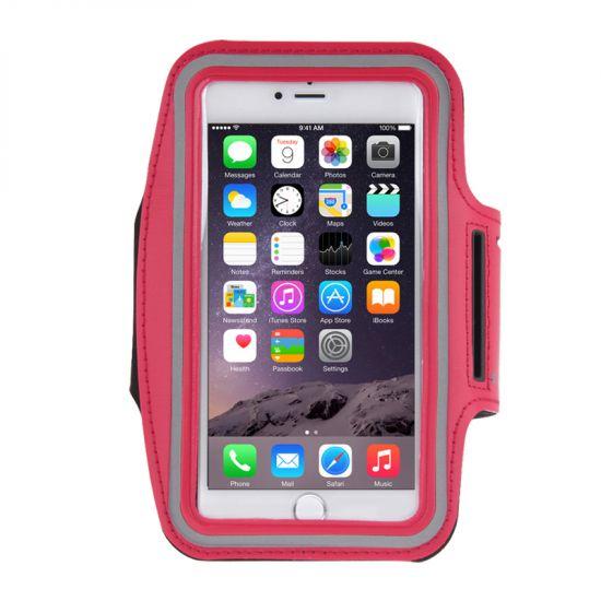 Mobigear Neopreen Sportarmband voor de iPhone 8 Plus / 7 Plus / 6(s) Plus - Rood