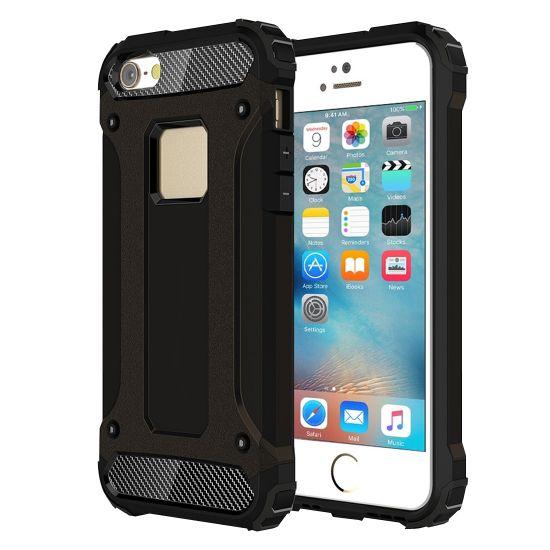 Mobigear Outdoor Hardcase voor de iPhone SE (2016) / 5S / 5 - Zwart