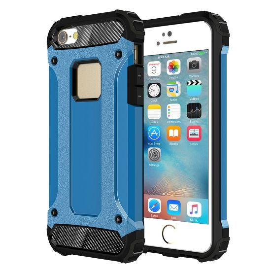 Mobigear Outdoor Hardcase voor de iPhone SE (2016) / 5S / 5 - Blauw