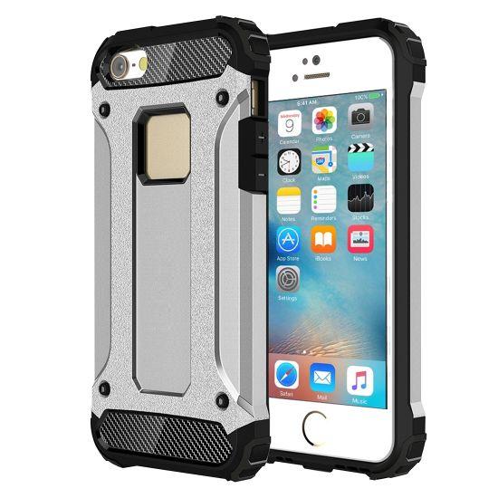 Mobigear Outdoor Hardcase voor de iPhone SE (2016) / 5S / 5 - Zilver