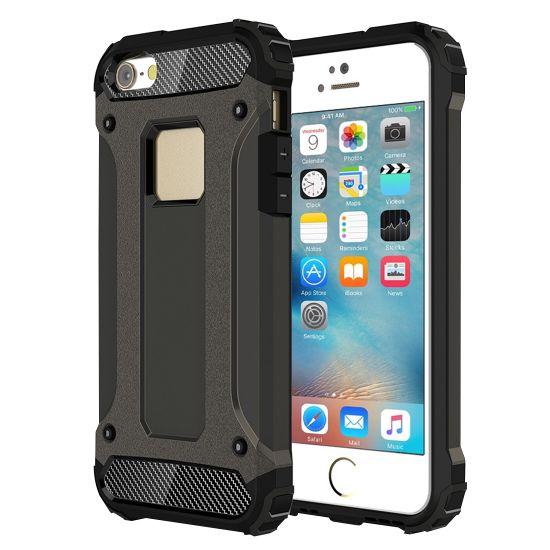 Mobigear Outdoor Hardcase voor de iPhone SE (2016) / 5S / 5 - Gunmetal
