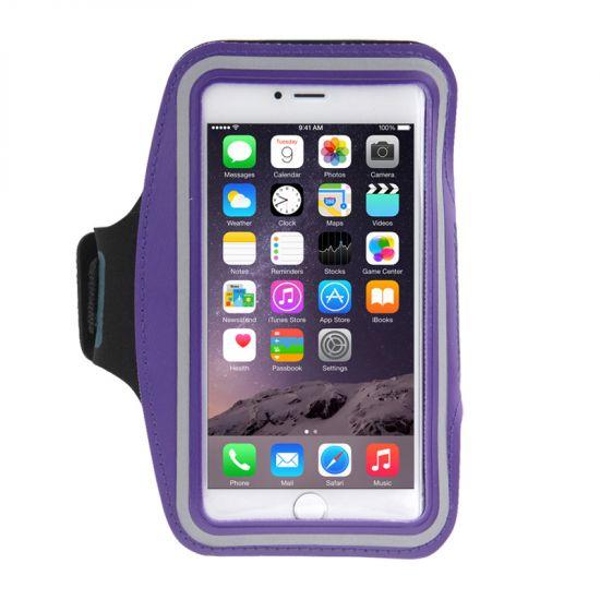 Mobigear Neopreen Sportarmband voor de iPhone 8 Plus / 7 Plus / 6(s) Plus - Paars