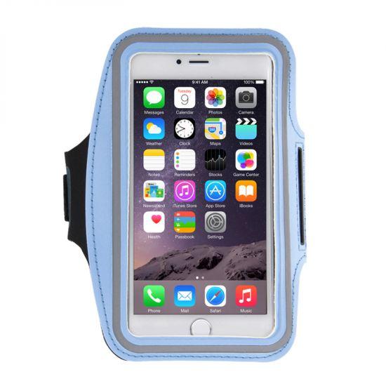 Mobigear Neopreen Sportarmband voor de iPhone 8 Plus / 7 Plus / 6(s) Plus - Blauw
