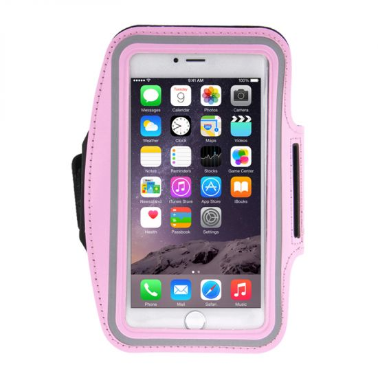 Mobigear Neopreen Sportarmband voor de iPhone 8 Plus / 7 Plus / 6(s) Plus - Roze