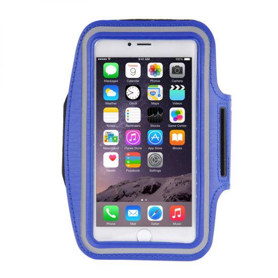 Mobigear Neopreen Sportarmband voor de iPhone 8 Plus / 7 Plus / 6(s) Plus - Donkerblauw
