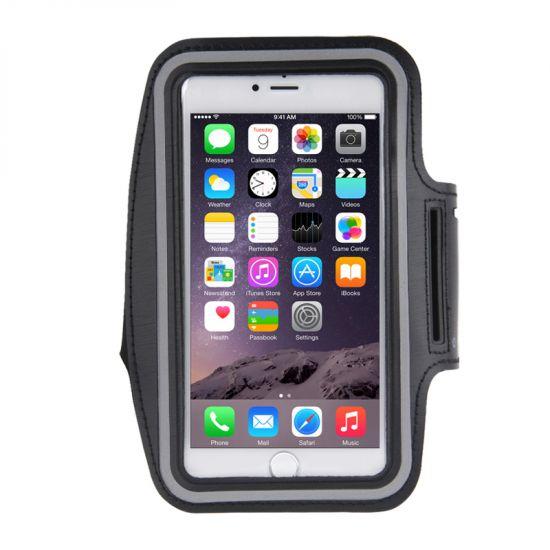 Mobigear Neopreen Sportarmband voor de iPhone 8 Plus / 7 Plus / 6(s) Plus - Zwart