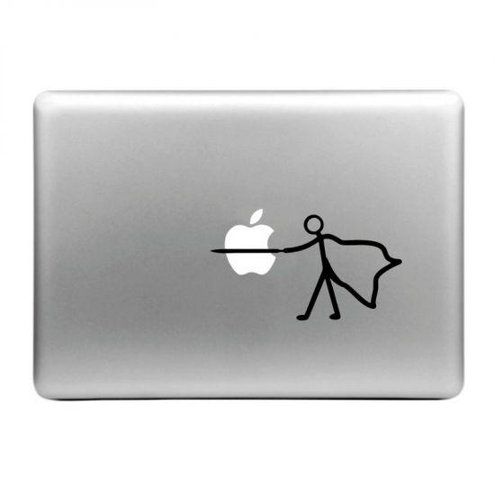 Mobigear Design Sticker voor de Apple MacBook Air / Pro (2008-2015) - Plug the Apple