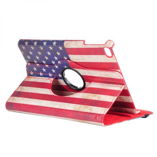 Mobigear 360 Rotating  Bookcase voor de iPad Mini 4 (2015) - Vintage USA-vlag