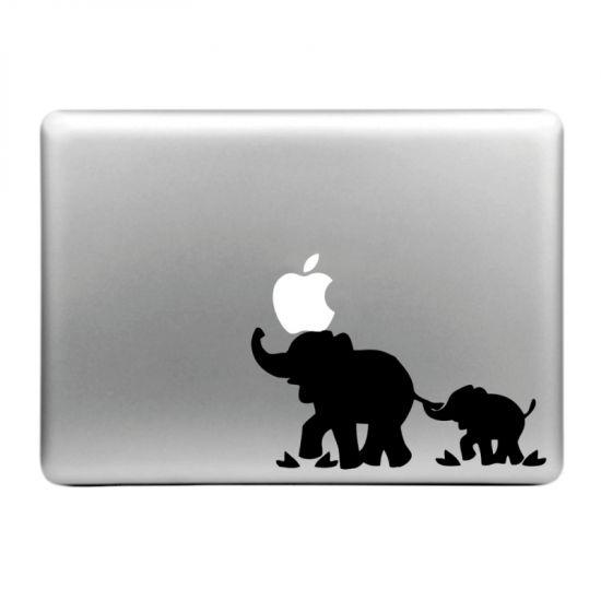 Mobigear Design Sticker voor de Apple MacBook Air / Pro (2008-2015) - Olifant