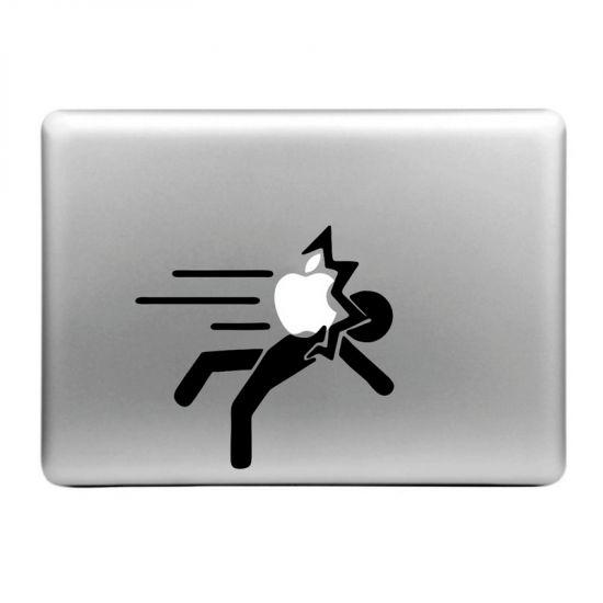 Mobigear Design Sticker voor de Apple MacBook Air / Pro (2008-2015) - Apple Hits Person