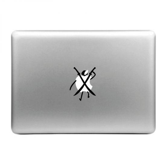 Mobigear Design Sticker voor de Apple MacBook Air / Pro (2008-2015) - Zwaarden