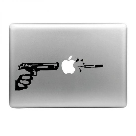 Mobigear Design Sticker voor de Apple MacBook Air / Pro (2008-2015) - Apple Shooter