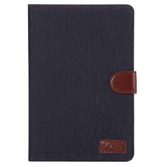 Mobigear Denim Katoen Bookcase voor de iPad Mini 4 (2015) - Zwart
