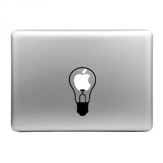 Mobigear Design Sticker voor de Apple MacBook Air / Pro (2008-2015) - little Bulb