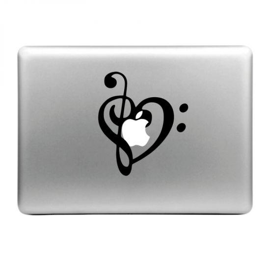 Mobigear Design Sticker voor de Apple MacBook Air / Pro (2008-2015) - Muziek noot