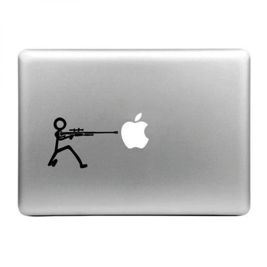 Mobigear Design Sticker voor de Apple MacBook Air / Pro (2008-2015) - Machinegeweer