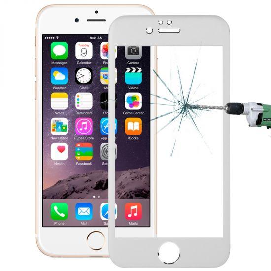 Mobigear Gehard Glas Screenprotector voor de iPhone 6(s) - Zilver
