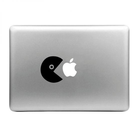 Mobigear Design Sticker voor de Apple MacBook Air / Pro (2008-2015) - Eat Apple