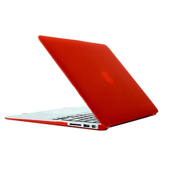 Mobigear Matte Case voor de MacBook Air 13 inch - Rood