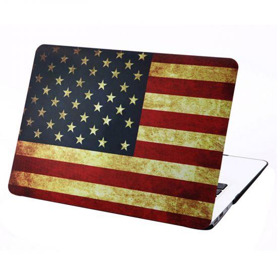 Mobigear Design Case voor de MacBook Air 13 inch - Vintage Amerikaanse vlag