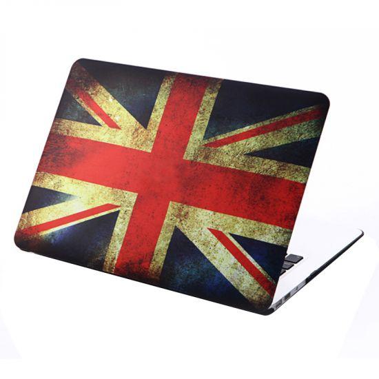 Mobigear Design Case voor de MacBook Air 13 inch - Vintage Britse vlag