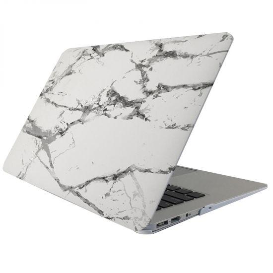 Mobigear Marmer Case voor de MacBook Air 13 inch - Wit