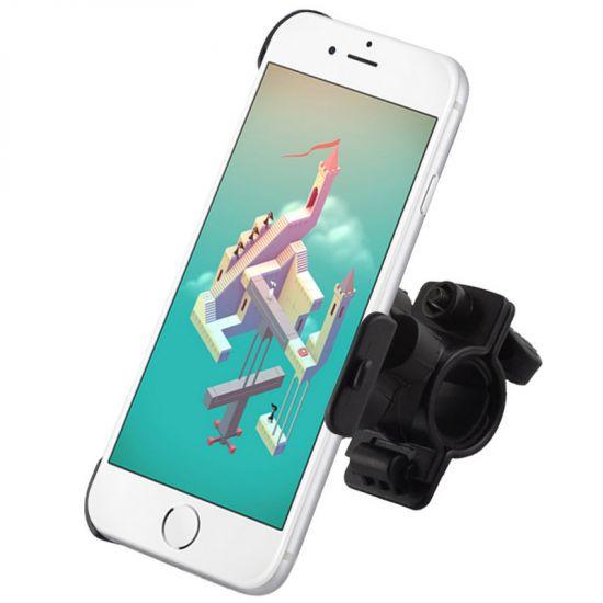 Mobigear Basic Telefoonhouder Fiets voor de Apple iPhone 6(s) - Zwart