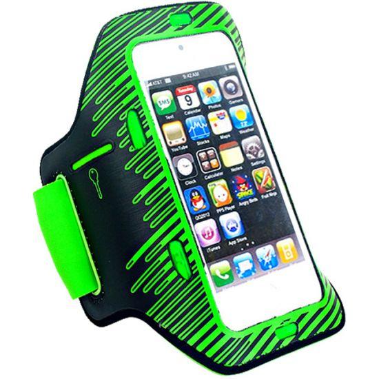 Mobigear LED Neopreen Sportarmband voor de iPhone SE (2016) / 5S / 5C / 5 - Groen