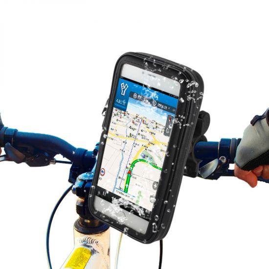 Mobigear Bike Console Telefoonhouder Fiets voor de Apple iPhone 8 Plus / 7 Plus / 6(s) Plus - Zwart