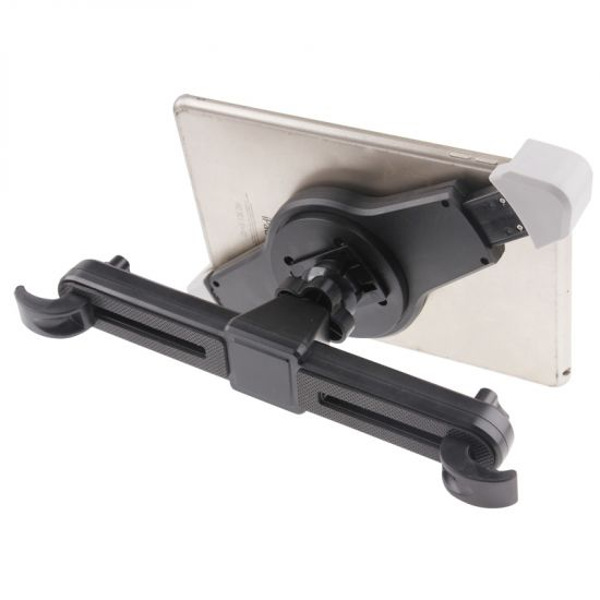 Mobigear 360 Rotation Headrest Tablet Holder Universeel 21 - 31cm - Zwart