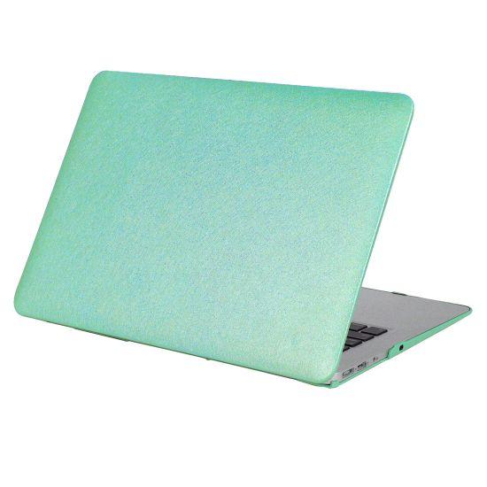 Mobigear Silk Texture Case voor de MacBook Pro 15 inch - Groen