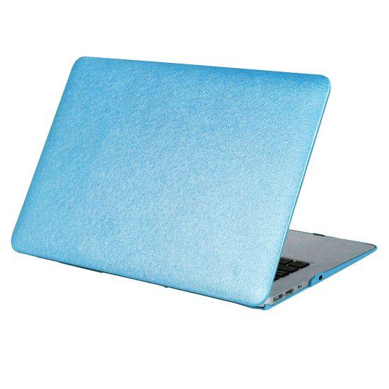 Mobigear Silk Texture Case voor de MacBook Pro 15 inch - Blauw