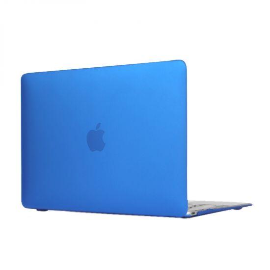 Mobigear Matte Case voor de MacBook 12 inch - Donkerblauw
