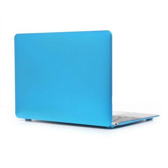 Mobigear Metallic Case voor de MacBook 12 inch - Blauw