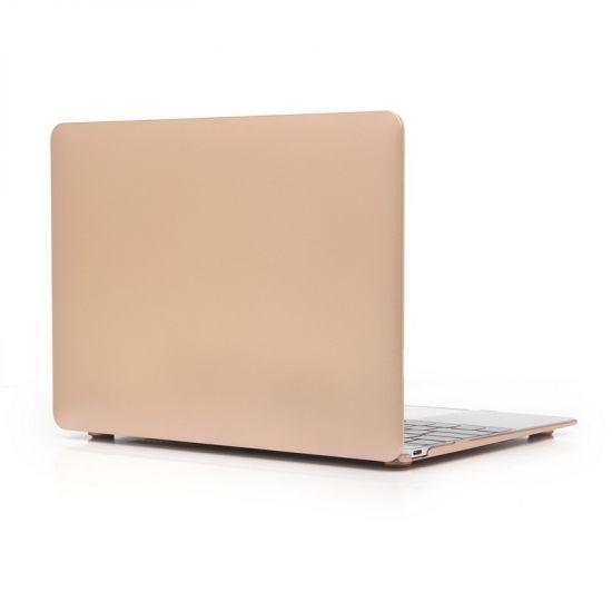 Mobigear Metallic Case voor de MacBook 12 inch - Goud