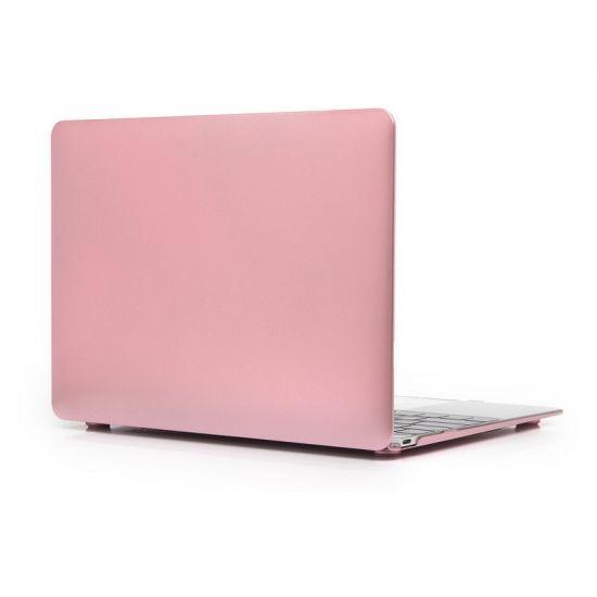Mobigear Metallic Case voor de MacBook 12 inch - Roze