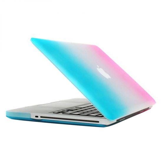 Mobigear Matte Case voor de MacBook Pro 15 inch - Blauw / Roze