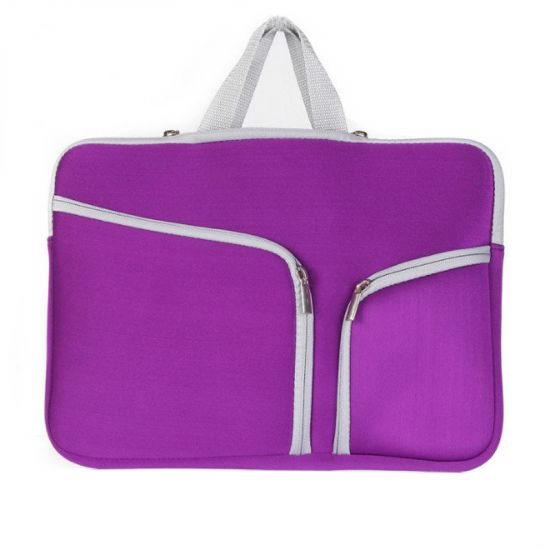 Mobigear Basic Neopreen Laptoptas Universeel MacBook Air 11 inch A1370 / A1465 - Paars