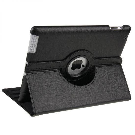 Mobigear 360 Rotating Bookcase voor de iPad 4 (2012) / iPad 3 (2012) / iPad 2 (2011) - Zwart