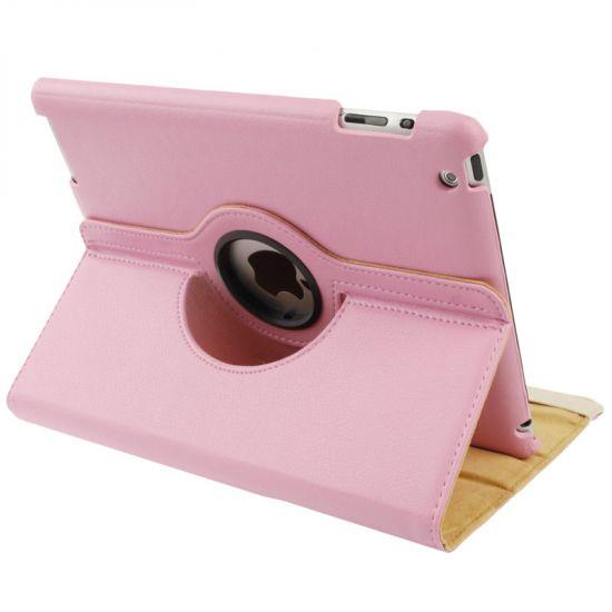 Mobigear 360 Rotating  Bookcase voor de iPad 4 (2012) / iPad 3 (2012) / iPad 2 (2011) - Roze