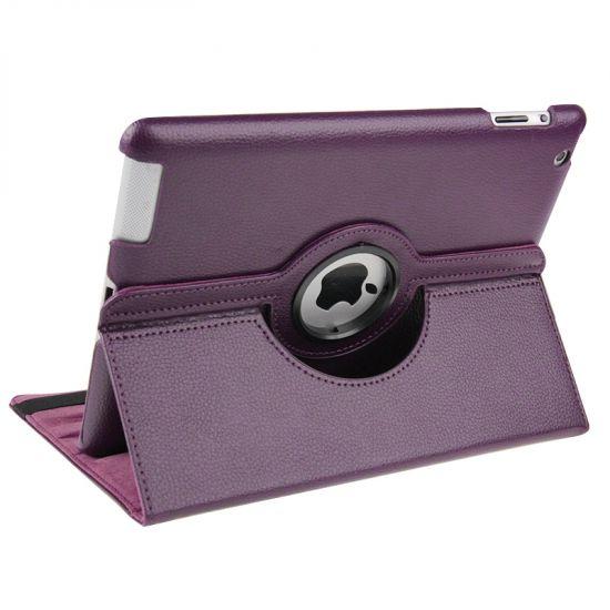 Mobigear 360 Rotating  Bookcase voor de iPad 4 (2012) / iPad 3 (2012) / iPad 2 (2011) - Paars