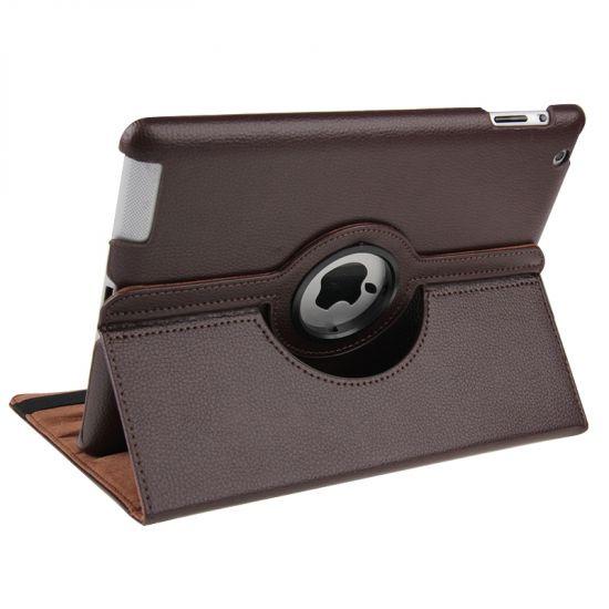 Mobigear 360 Rotating Bookcase voor de iPad 4 (2012) / iPad 3 (2012) / iPad 2 (2011) - Bruin