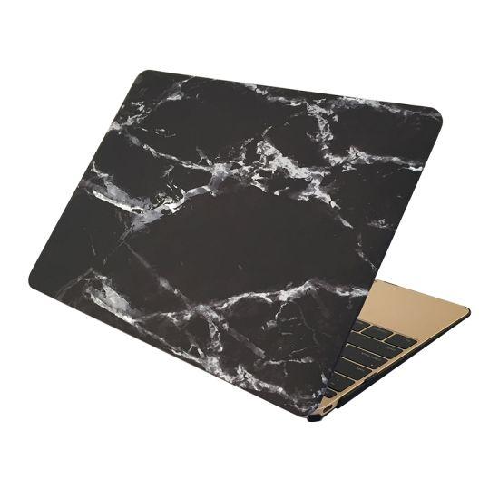 Mobigear Marmer Case voor de MacBook Pro 15 inch A1286 - Zwart
