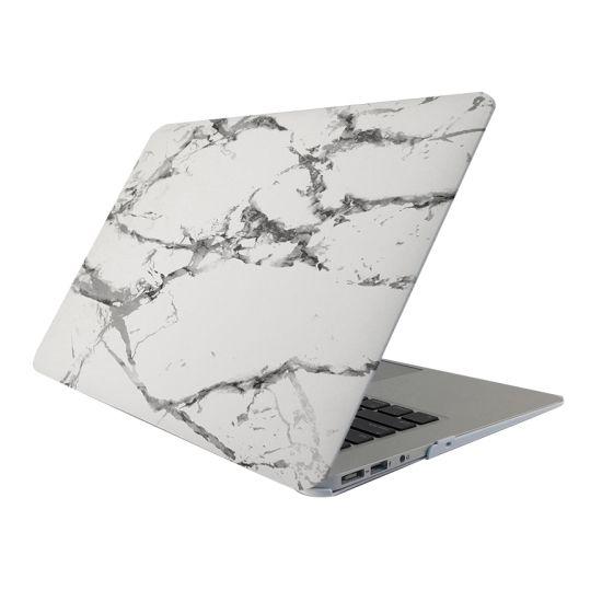 Mobigear Marmer Case voor de MacBook Pro 15 inch - Wit