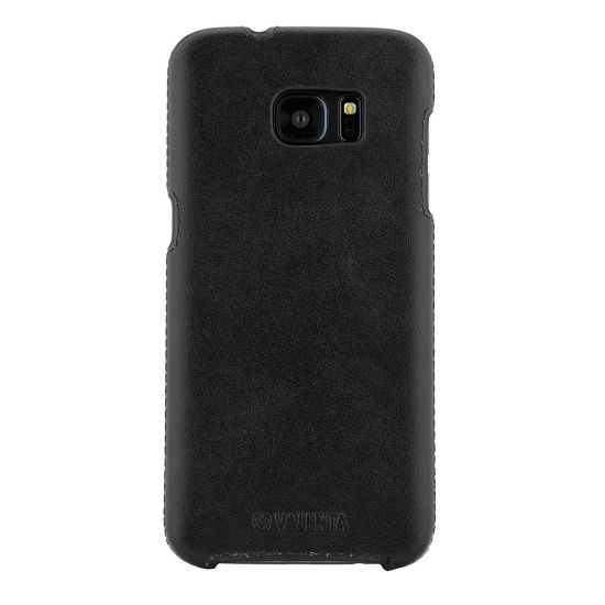 Valenta Classic Leren Backcover voor de Samsung Galaxy S7 Edge - Classic Black